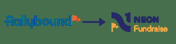 Rallybound Logo & Neon Fundraise Logo]