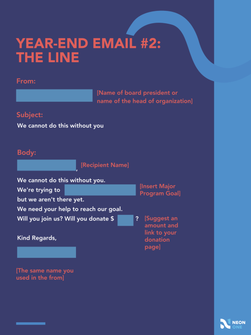 year end giving template: the line