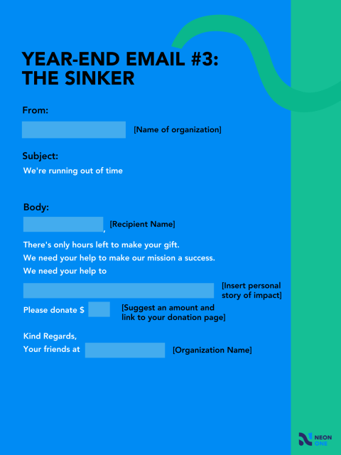 year end giving template: the sinker