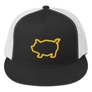 Piggy Trucker Cap – yellow
