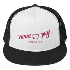 Full Logo Trucker Cap – pink