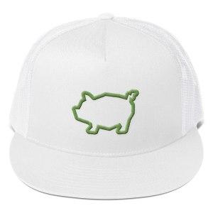 Piggy Trucker Cap – green