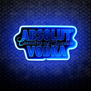 Absolut Vodka Country of Sweden 3D Neon Sign