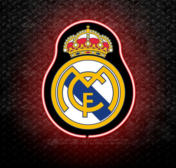 Real Madrid 3D Neon Sign