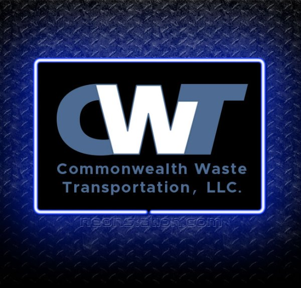 CWT Commonwealth Waste Transportation 3D Neon Sign