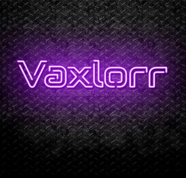 Vaxlorr Neon Sign