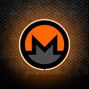 Monero Cryptocurrency 3D Neon Sign