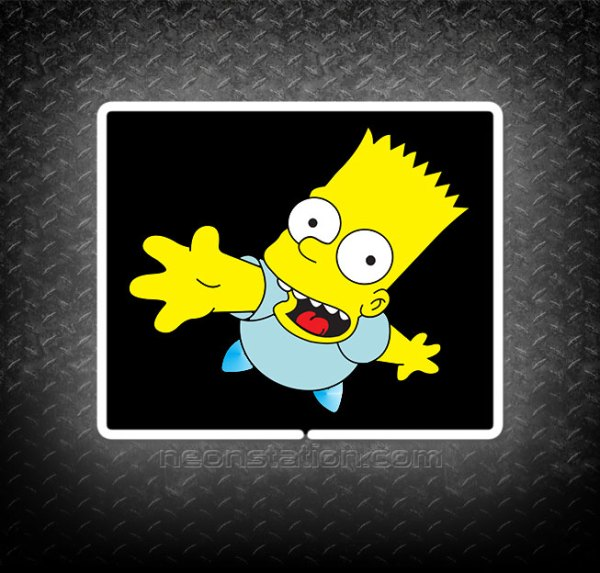 Bart Simpson 3D Neon Sign
