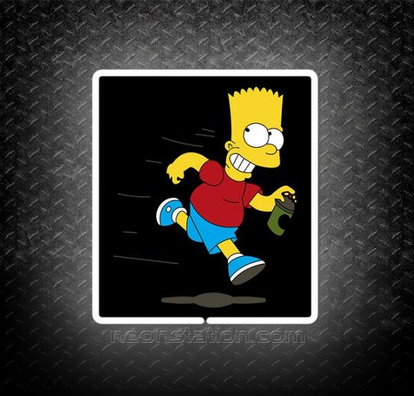 Bart Simpson Running 3D Neon Sign