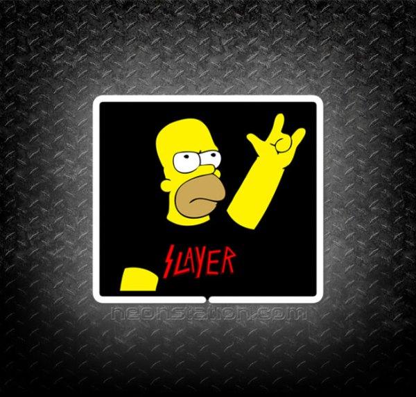 Homer Simpson Slayer 3D Neon Sign
