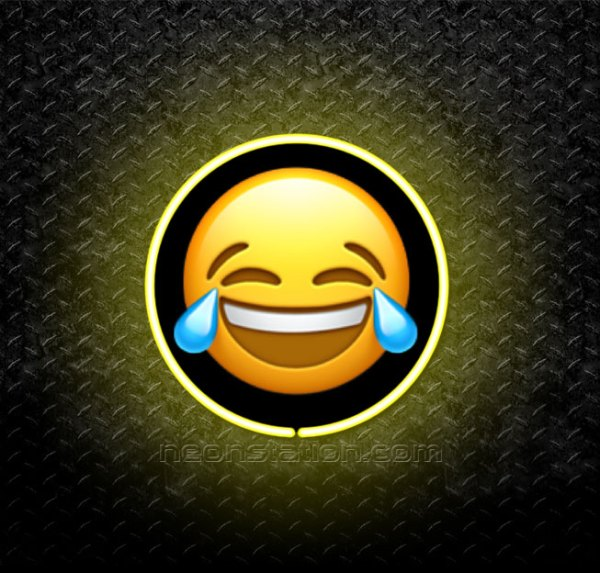 Face With Tears Of Joy Emoji 3D Neon Sign