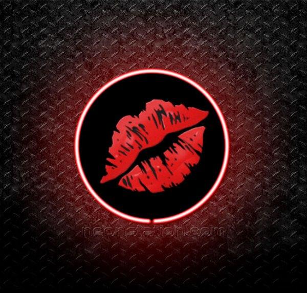 Kiss Mark Emoji 3D Neon Sign