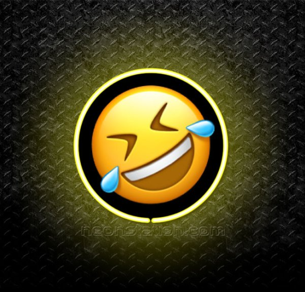 Rolling On The Floor Laughing Face Emoji 3D Neon Sign