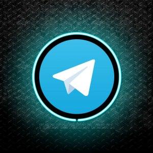 Telegram 3D Neon Sign
