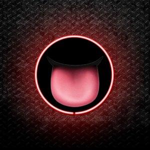 Tongue Emoji 3D Neon Sign