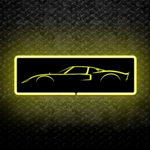 Ford GT40 Silhoutte 3D Neon Sign