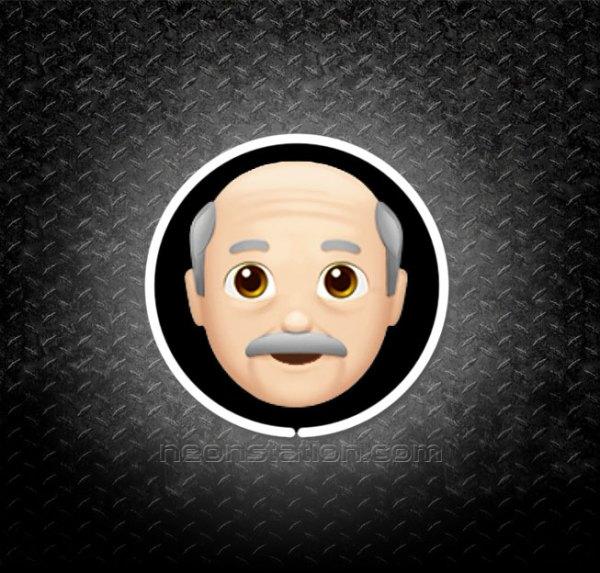 Old Man Emoji 3D Neon Sign