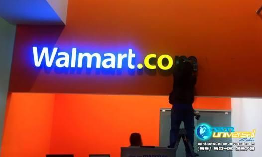 Letras 3D luminoso Walmart