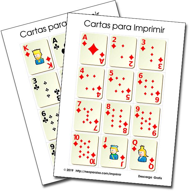 Juego De Cartas Matematicos Y Recursos Para Imprimir Cartillas