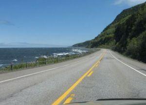 Route 132 en Haute-Gaspésie, photo : MCL.