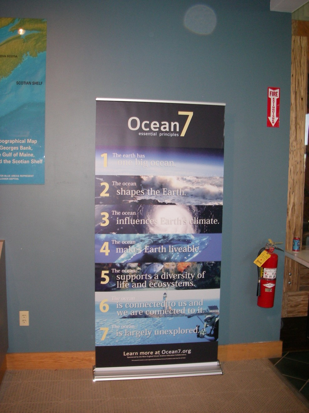 Ocean7 Banner at Project Oceanology, Avery Point, CT