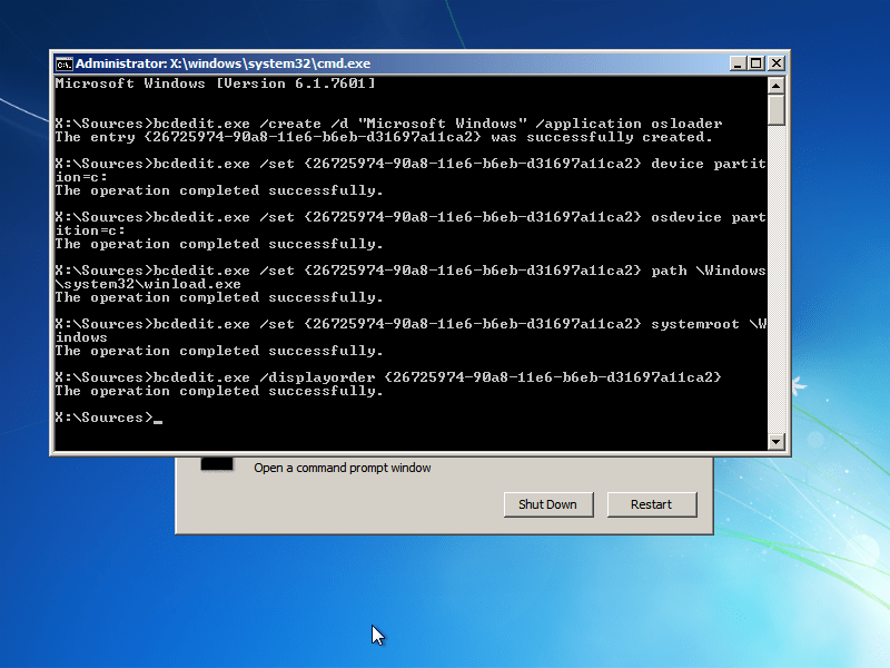 Adding a Windows entry to a bootloader
