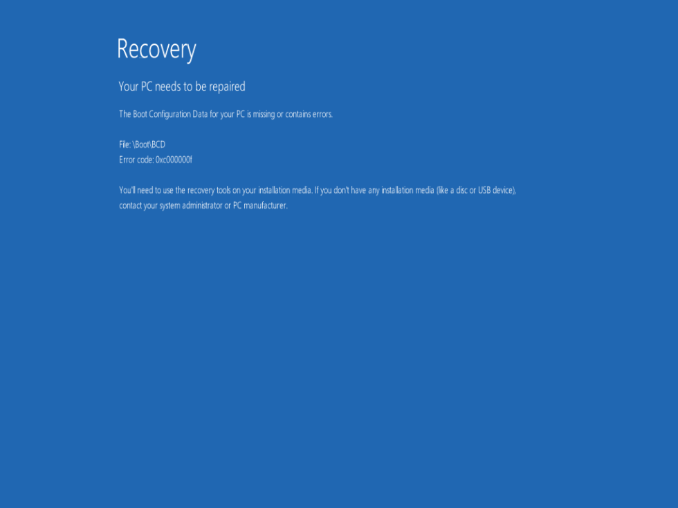 Win8 0xc000000f startup error