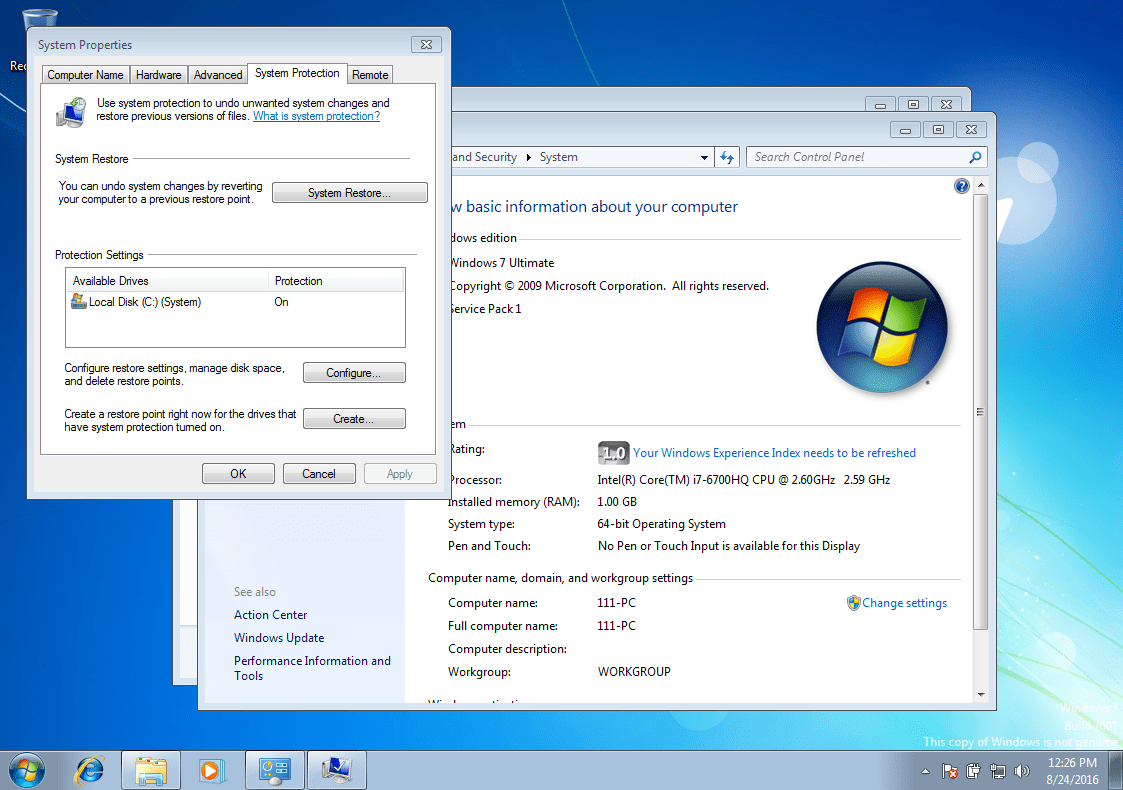 System Restore via command line. Step by step and sensible 91