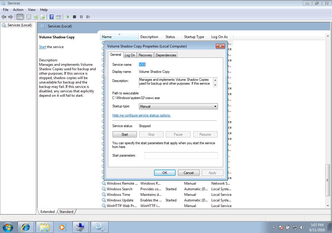 0x8078012D – Fix for Windows 7, 8