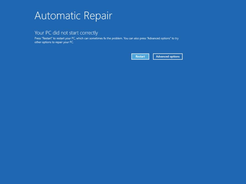 Windows 8 User32 dll not found error screen