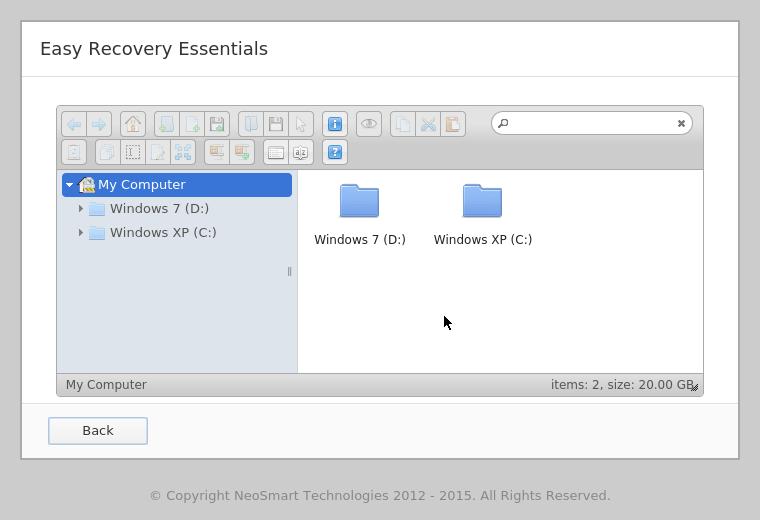 EasyRE File Browser