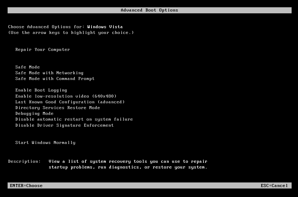 System Restore: The parameter is incorrect \u2013 Fix for Windows 7