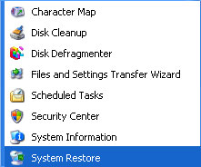 Windows XP Restore Item In Menu