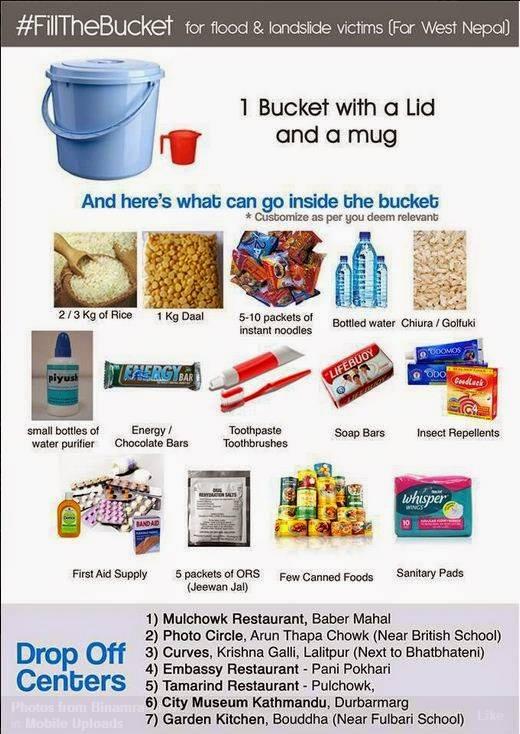 fill the bucket challenge