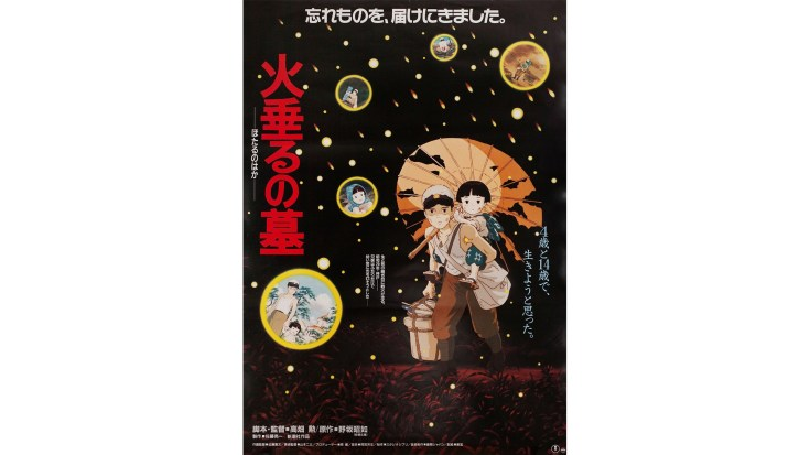 Grave of the Fireflies Anime Poster