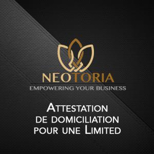 attestation de domiciliation Limited Irlande