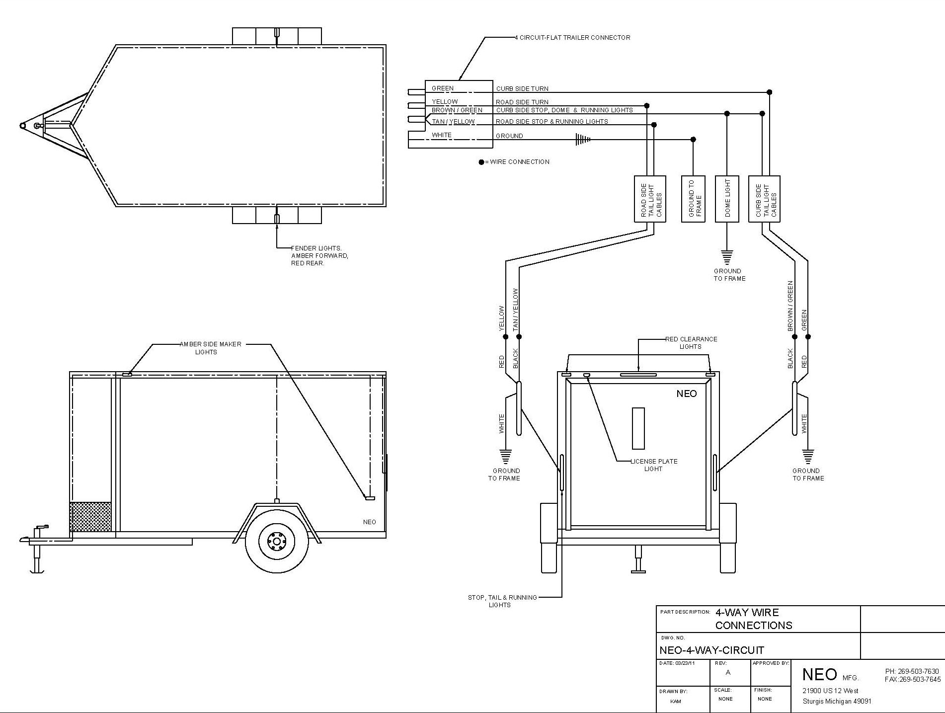 hight resolution of 4 wire circuit 7 wire trailer to truck diagram