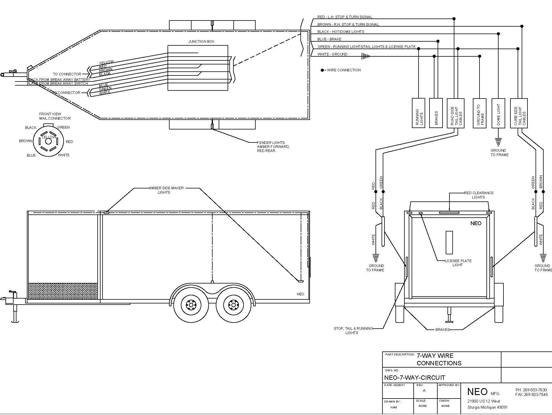 53 foot trailer lights wiring diagram