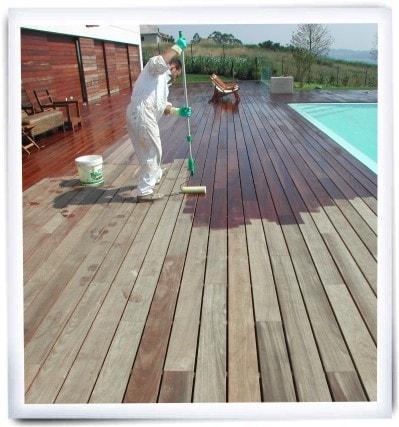 madera para exterior fabricada con materiales reciclados