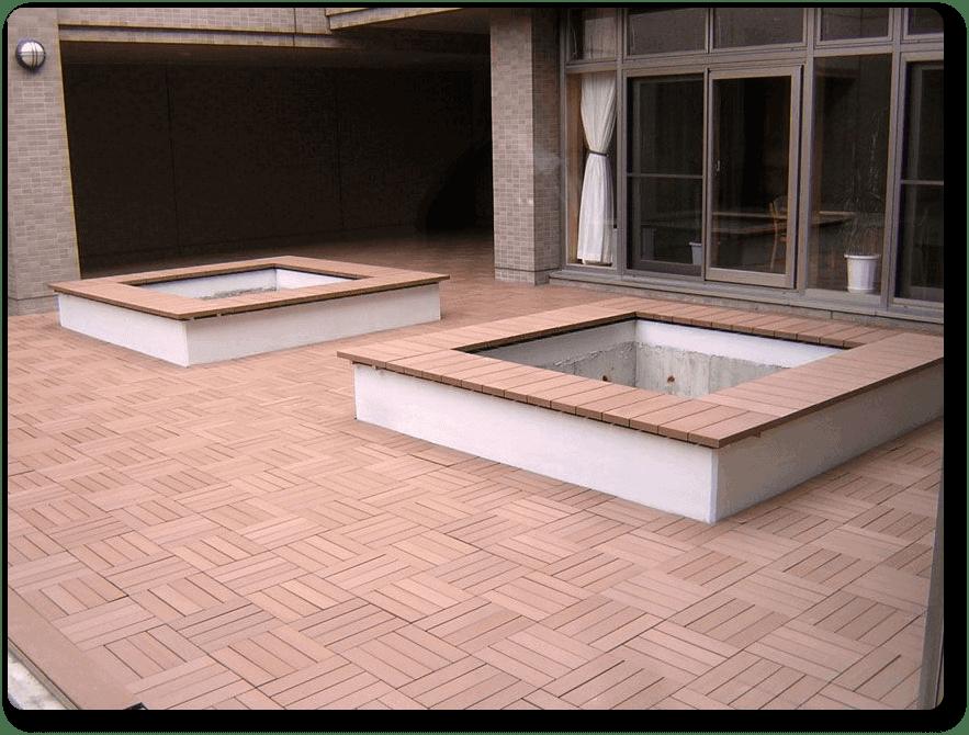 Losetas madera sint tica para exteriores neoture - Madera para exteriores ...