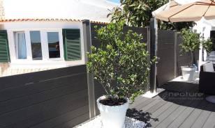 Cerramiento madera sintetica exterior en color Grey