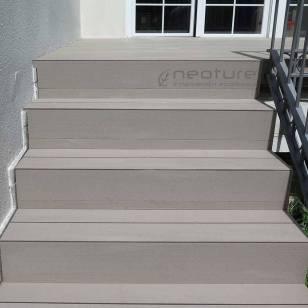 escaleras tarima madera composite terraza