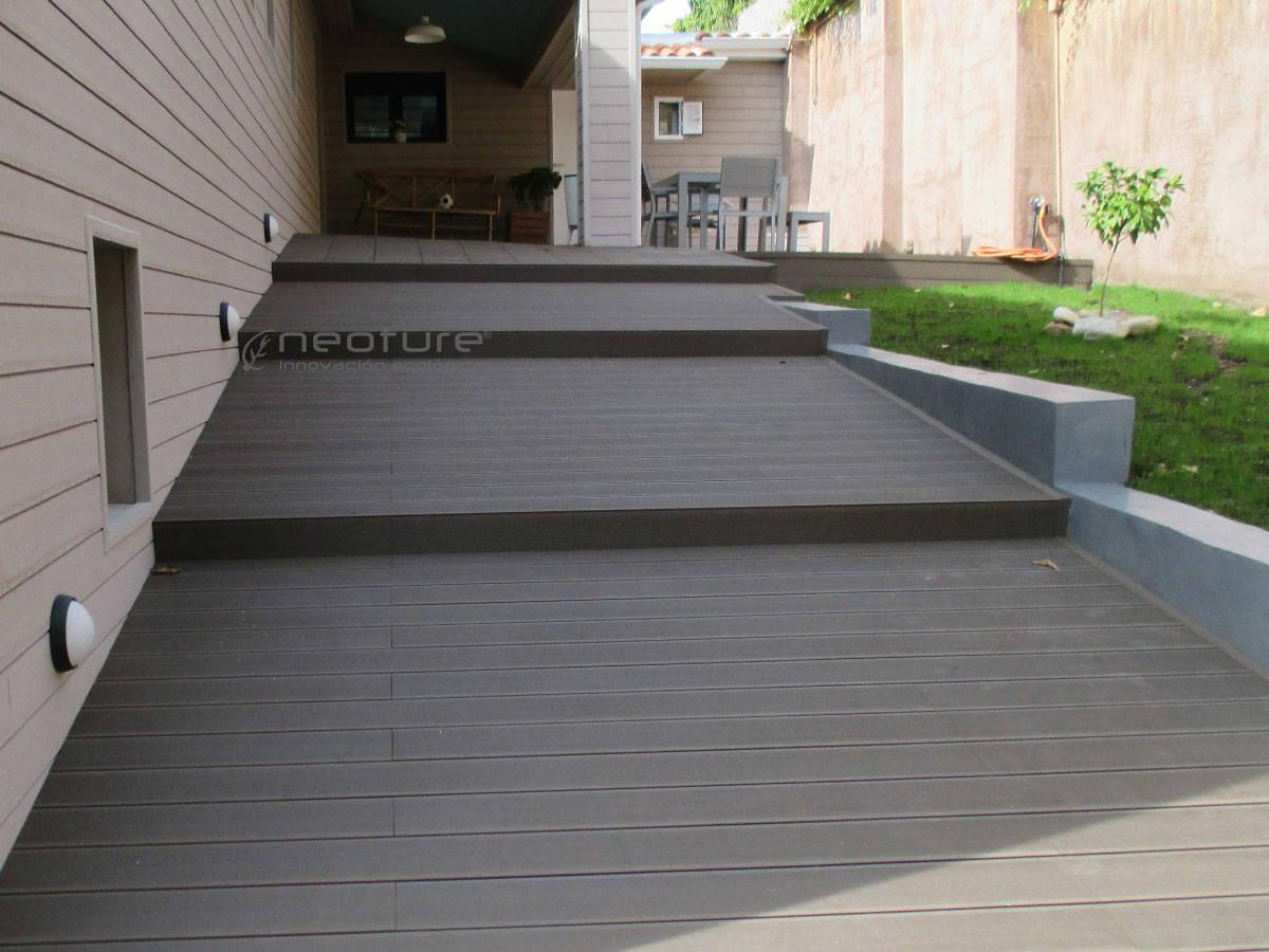 Tarima exterior madera sintetica neoture - Baldosas de madera para exterior ...
