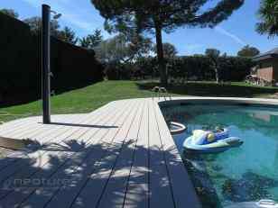 tarima madera sintetica piscina ducha