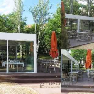 Tarima composite terraza bar