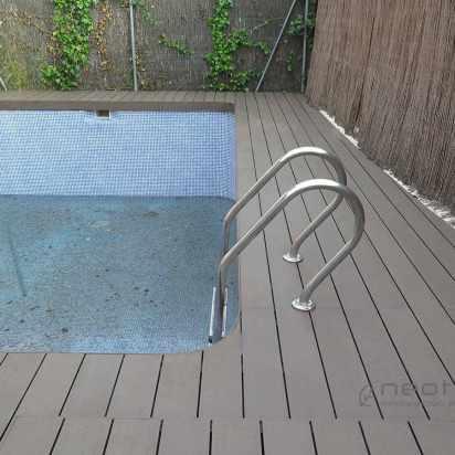 tarima tecnologica exteior para piscina.