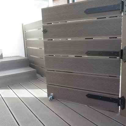 puerta cerramiento piscina madera