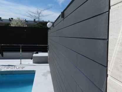 revestimiento madera composite neolack grey