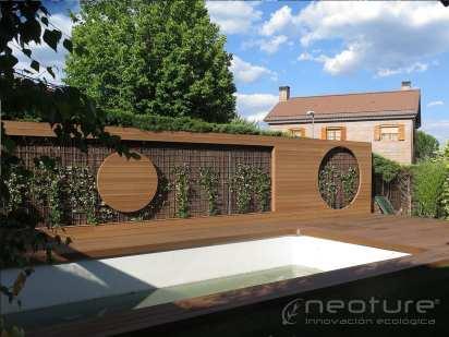 Revestimiento madera composite exterior panel fachada