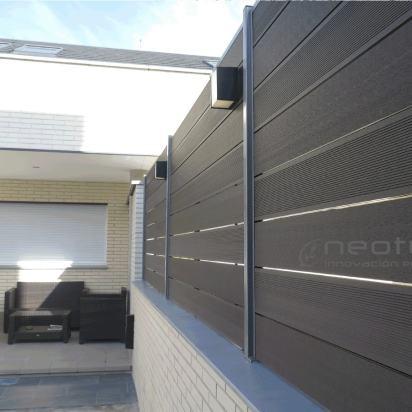 Vallado madera exterior sintetica color grey